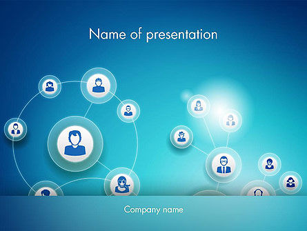 Network Circles PowerPoint Template, 12394, Careers/Industry — PoweredTemplate.com