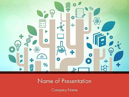 Education and Science PowerPoint Template, 12395, Education & Training — PoweredTemplate.com