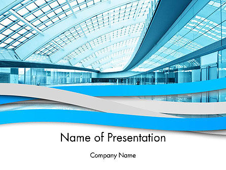 Construction: Modern Office Building Corridor PowerPoint Template #12396
