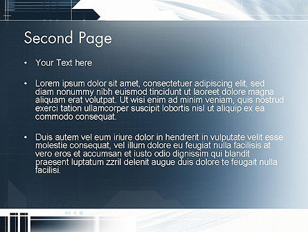 Abstract Technology Theme PowerPoint Template Slide 2
