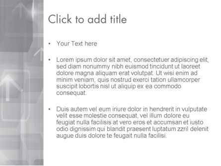 Technology Gray Abstract With Arrows PowerPoint Template, Slide 3, 12402, Abstract/Textures — PoweredTemplate.com