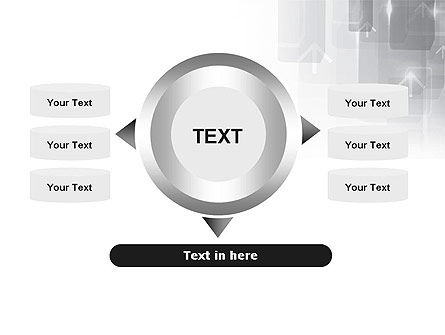 Technology Gray Abstract With Arrows PowerPoint Template Slide 12