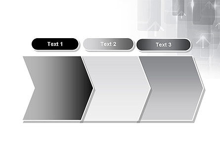 Technology Gray Abstract With Arrows PowerPoint Template Slide 16