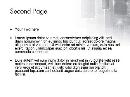 Technology Gray Abstract With Arrows PowerPoint Template Slide 2