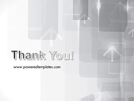 Technology Gray Abstract With Arrows PowerPoint Template Slide 20