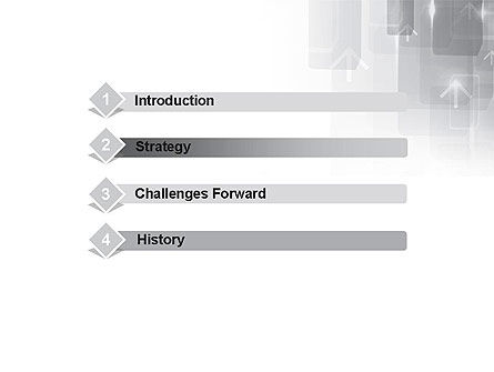 Technology Gray Abstract With Arrows PowerPoint Template Slide 3
