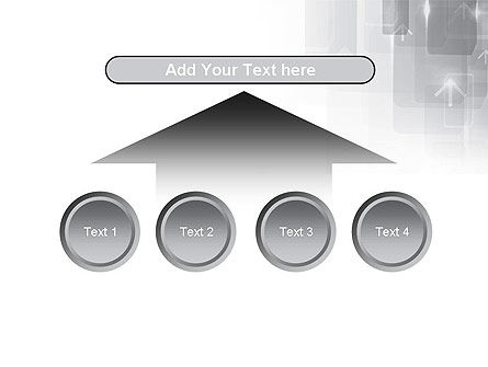 Technology Gray Abstract With Arrows PowerPoint Template Slide 8