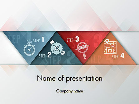 Business Concepts: Four Creative Steps PowerPoint Template #12404