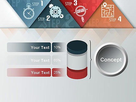 Four Creative Steps PowerPoint Template Slide 11