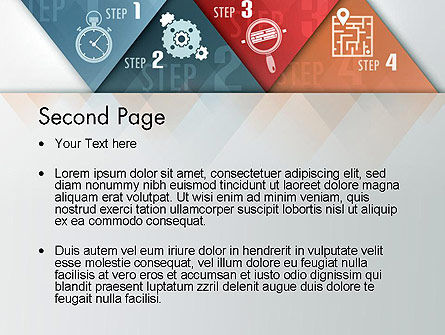 Four Creative Steps PowerPoint Template Slide 2