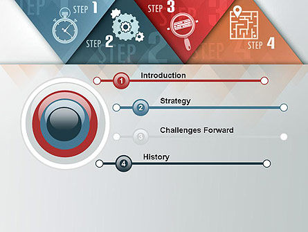 Four Creative Steps PowerPoint Template Slide 3