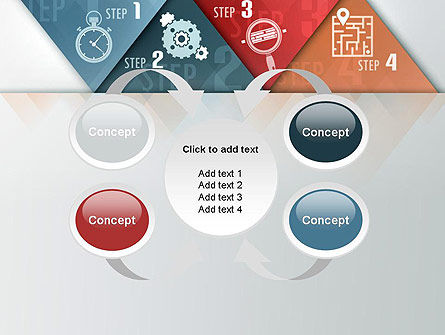 Four Creative Steps PowerPoint Template Slide 6