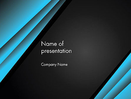 Abstract/Textures: Abstract Black and Turquoise PowerPoint Template #12407