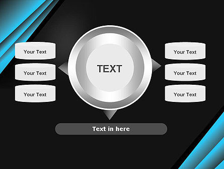 Abstract Black and Turquoise PowerPoint Template Slide 12