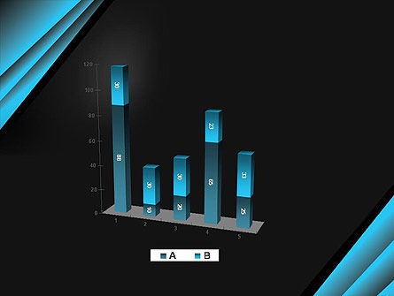 Abstract Black and Turquoise PowerPoint Template Slide 17