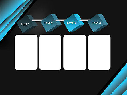 Abstract Black and Turquoise PowerPoint Template Slide 18