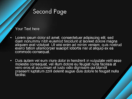 Abstract Black and Turquoise PowerPoint Template Slide 2
