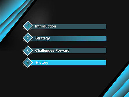 Abstract Black and Turquoise PowerPoint Template Slide 3