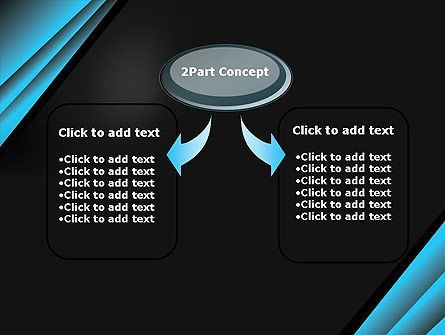 Abstract Black and Turquoise PowerPoint Template Slide 4