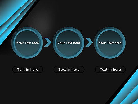 Abstract Black and Turquoise PowerPoint Template Slide 5