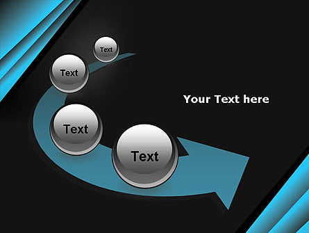 Abstract Black and Turquoise PowerPoint Template Slide 6