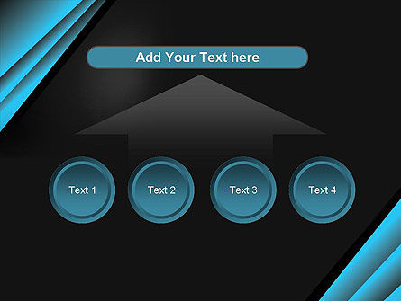 Abstract Black and Turquoise PowerPoint Template Slide 8
