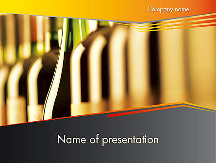 Food & Beverage: Modèle PowerPoint de types de vin #12408
