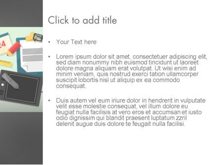 Workspace Top View PowerPoint Template, Slide 3, 12410, Business — PoweredTemplate.com