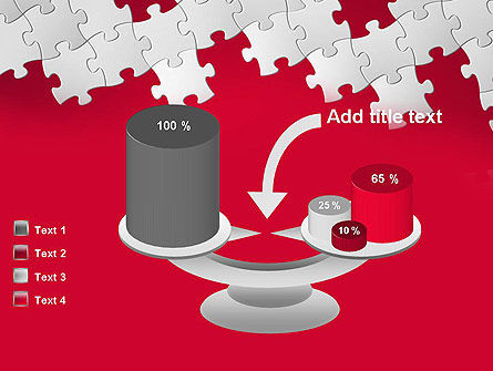 Red Puzzle Background PowerPoint Template Slide 10