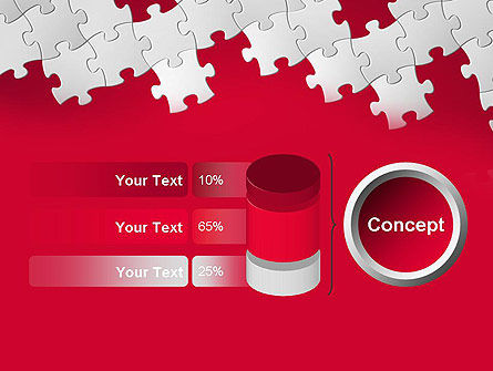 Red Puzzle Background PowerPoint Template Slide 11