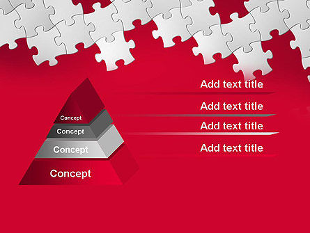 Red Puzzle Background PowerPoint Template Slide 12