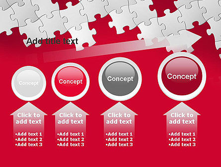 Red Puzzle Background PowerPoint Template Slide 13