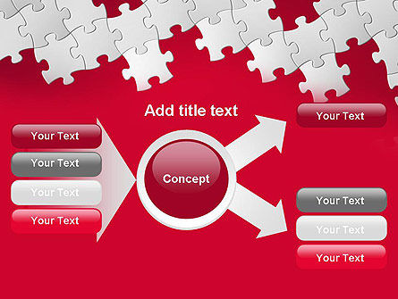 Red Puzzle Background PowerPoint Template Slide 14