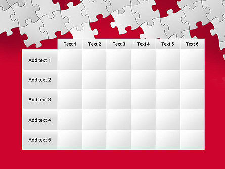 Red Puzzle Background PowerPoint Template Slide 15