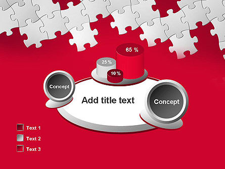 Red Puzzle Background PowerPoint Template Slide 16
