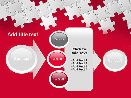 Red Puzzle Background PowerPoint Template Slide 17