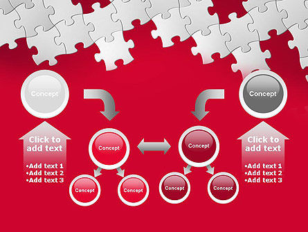 Red Puzzle Background PowerPoint Template Slide 19