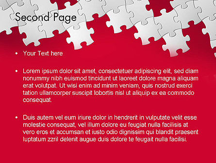 Red Puzzle Background PowerPoint Template Slide 2