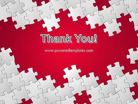 Red Puzzle Background PowerPoint Template Slide 20