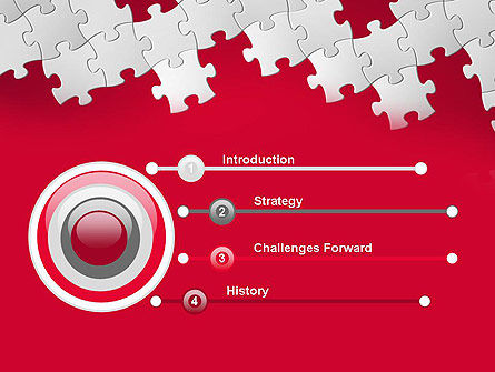 Red Puzzle Background PowerPoint Template Slide 3