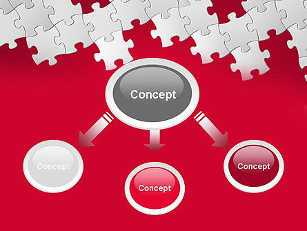 Red Puzzle Background PowerPoint Template Slide 4