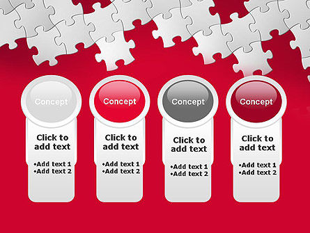 Red Puzzle Background PowerPoint Template Slide 5