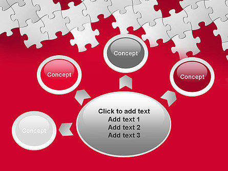 Red Puzzle Background PowerPoint Template Slide 7