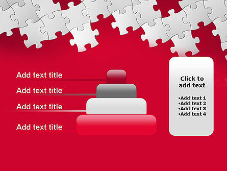 Red Puzzle Background PowerPoint Template Slide 8