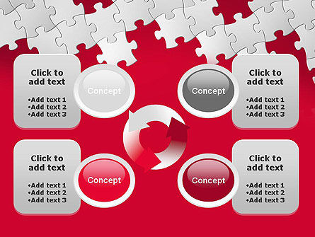 Red Puzzle Background PowerPoint Template Slide 9