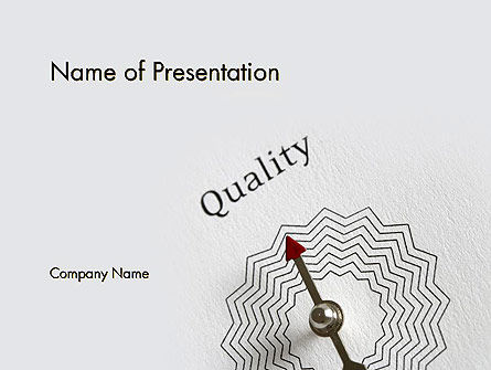 Business Concepts: Path to Quality PowerPoint Template #12412