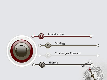Path to Quality PowerPoint Template, Slide 3, 12412, Business Concepts — PoweredTemplate.com