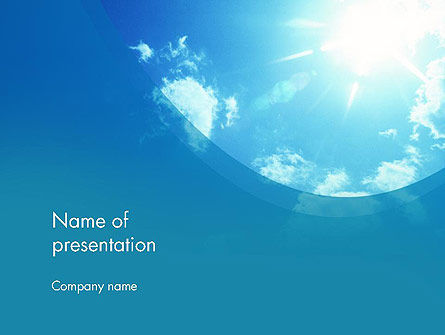 Nature & Environment: Sunshine PowerPoint Template #12413
