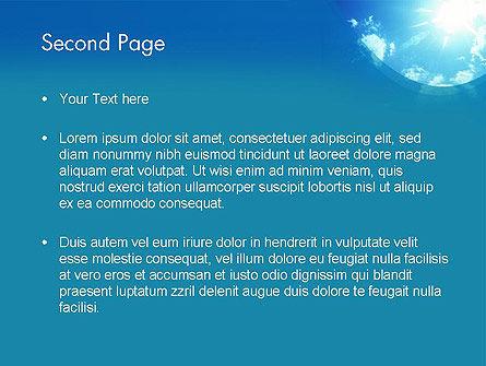 Sunshine PowerPoint Template, Slide 2, 12413, Nature & Environment — PoweredTemplate.com