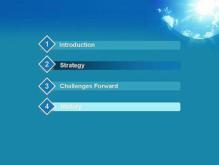 Sunshine PowerPoint Template, Slide 3, 12413, Nature & Environment — PoweredTemplate.com